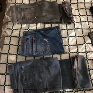 Size 28 . 7 for all man kind women's jeans